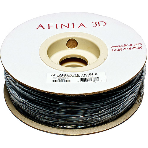 AFINIA Value-Line ABS Filament for 3D Printers, Black