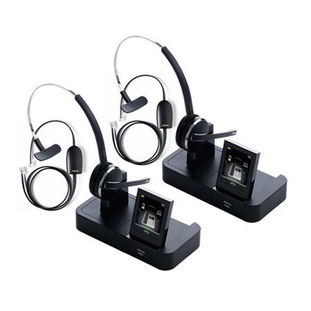 48bef337b5b Jabra PRO 9470 with 14201-17 EHS for Polycom (2 Pack) Wireless Bluetooth  Headset with 3 Wearing Styles - Walmart.com