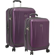 Delsey Shadow Carry-on 25 Inch - Purple 3 Piece Set Spinner
