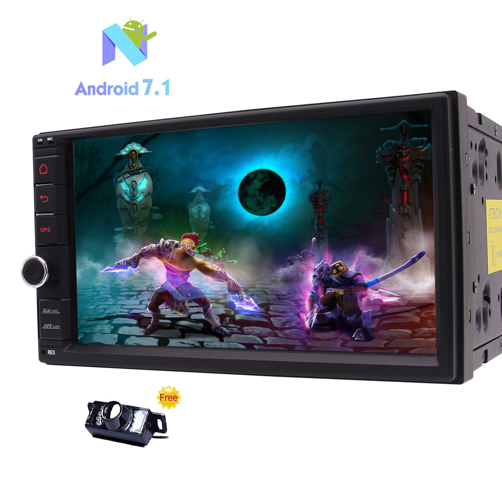Android 7 1 2GB RAM 32GB ROM Car Stereo Bluetooth Car Radio GPS Sat Nav 7