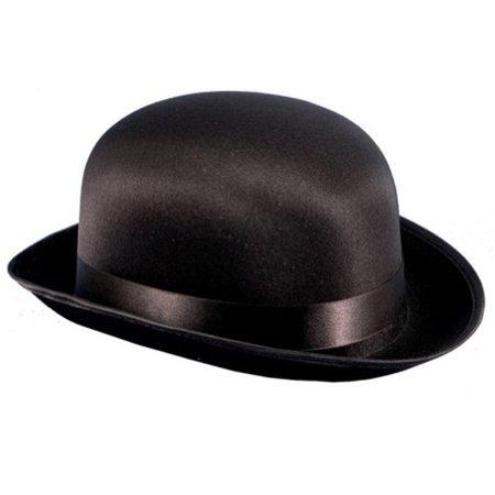 Black Adult Satin Derby Hat Size Medium](Derby Halloween 2017)