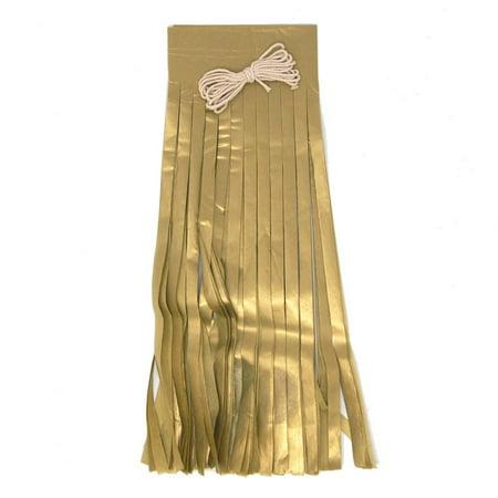 Paper Tassel Garland Banner, Antique Gold, 13-Inch, 8-Piece
