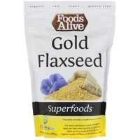 Foods Alive  Superfoods  Gold Flaxseed  14 oz  395 g