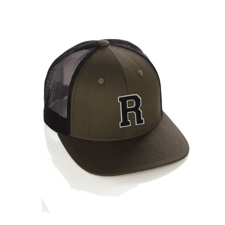 Team Sports Custom Initial Letter R Trucker Hat Adjustable Snapback Baseball Cap (Cheap Custom Hats)
