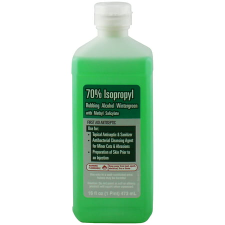 PL Developments 70% Isopropyl Wintergreen Rubbing Alcohol with Methyl Salicylate, 16 fl oz