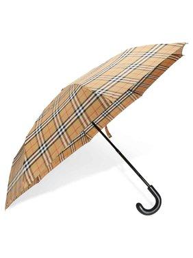 bd61e099e Product Image Burberry Vintage Check Folding Umbrella- Antique Yellow/Black