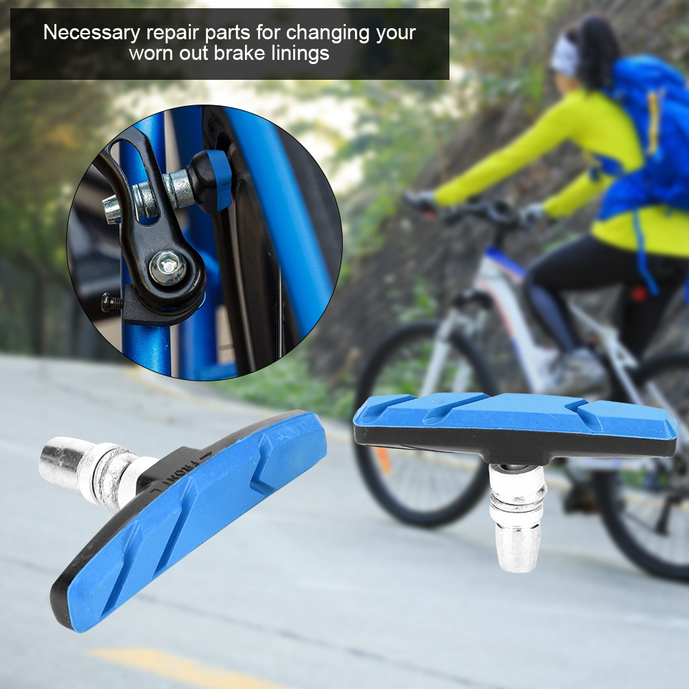1Pair Rubbers BikeBrake Pads V Brake Pads Cycling BrakeBlocks Holders For BikeDS