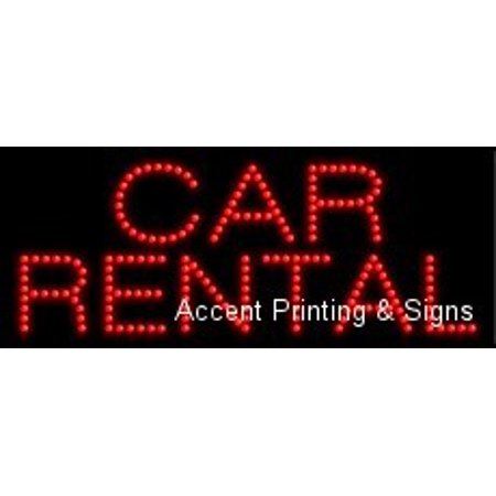 Car Rental Led Sign  High Impact  Energy Efficient