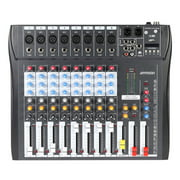 ammoon CT80S-USB 8 Channel Digtal Mic Line Audio Mixing Mixer Console Wireless BT Connection with 48V Phantom Power for Recording DJ Stage Karaoke Music Appreciation