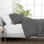 Bare Home Luxury 3 Piece Duvet Cover and Sham Set - Premium 1800 Ultra-Soft Brushed Microfiber - Hypoallergenic, Easy Care, Wrinkle Resistant