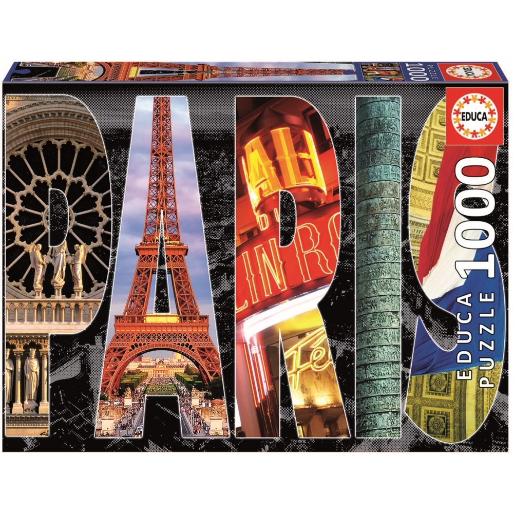 Paris Collage 1000 Piece Puzzle