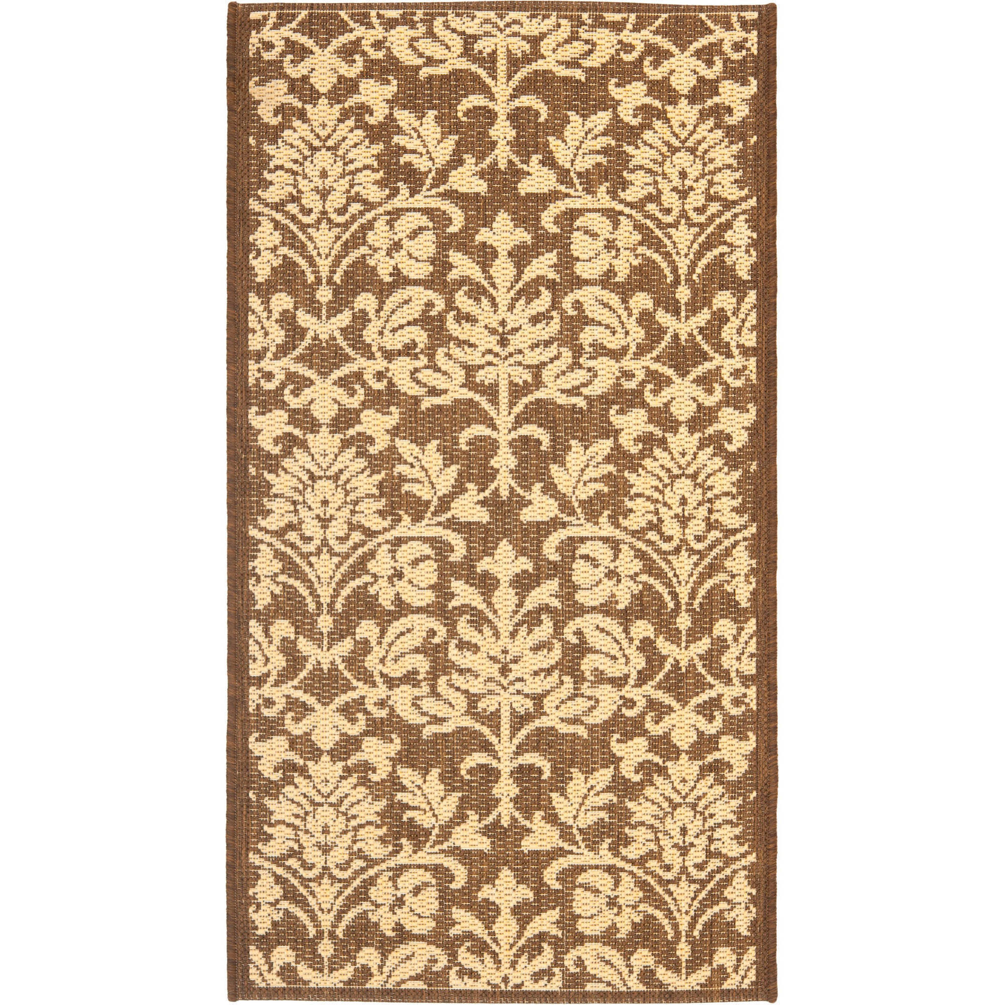 Resorts Area Indoor/Outdoor Rug, Chocolate/Natural