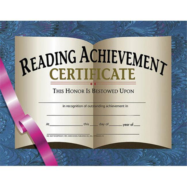 HAYES SCHOOL PUBLISHING H-VA577 CERTIFICATES READING ACHIEVEMENT-36/PK 8-1/2 X 11