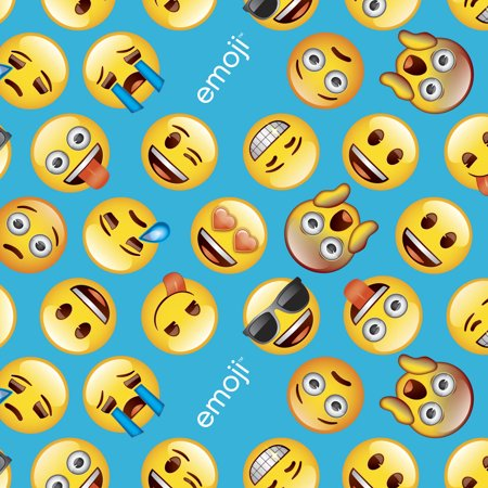 classic emoji anti pill fleece fabric by the yard 60 62