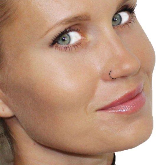Bodyj4you Nose Rings Hoop 22 Gauge Green Stainless Steel Piercing