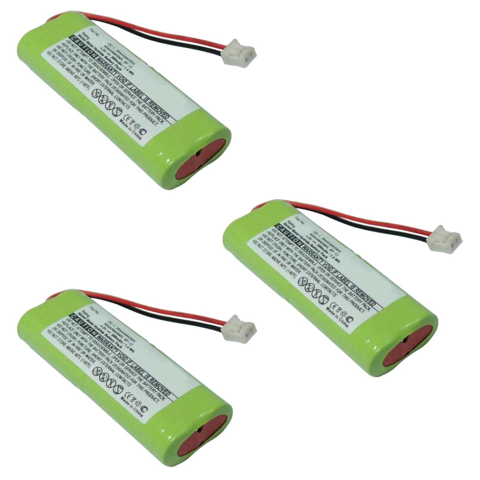 3x 4.8V Rechargeable Dog Collar Replacement Battery For E...