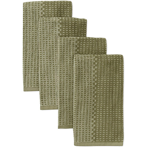 Better Homes and Gardens Two-Tone Kitchen Towels, Set of 4