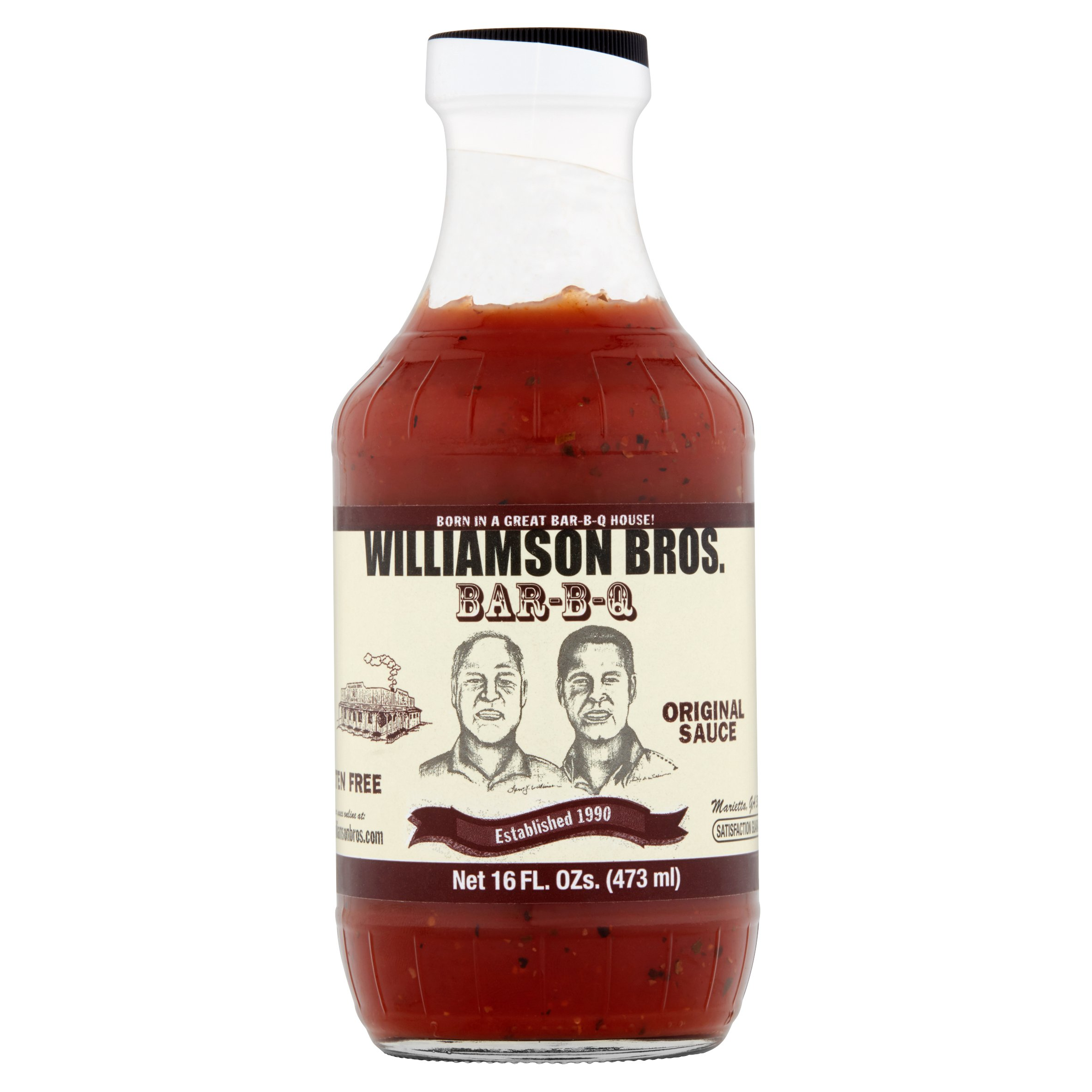 Williamson Bros. Bar-B-Q Original Sauce, 16 fl oz