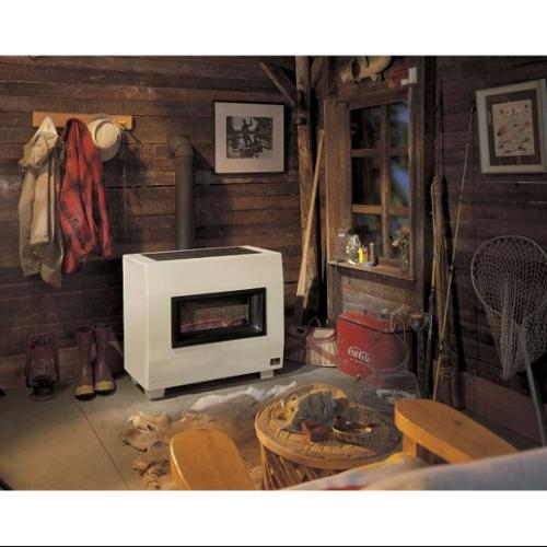 EMPIRE RH50BLP Gas Fired Room Heater, 16 In. D, 34 In. W