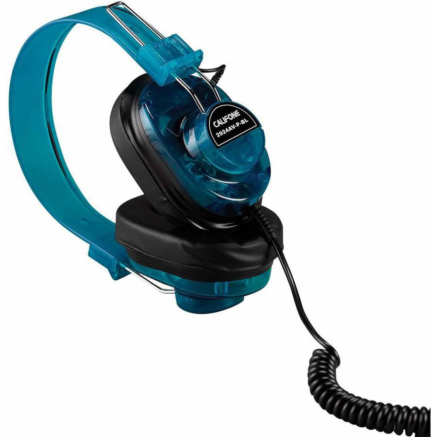 Califone, Deluxe Monaural Headphones, Blueberry Color