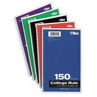 TOPS Notebook,9-1/2 x 6 In. TOP65362