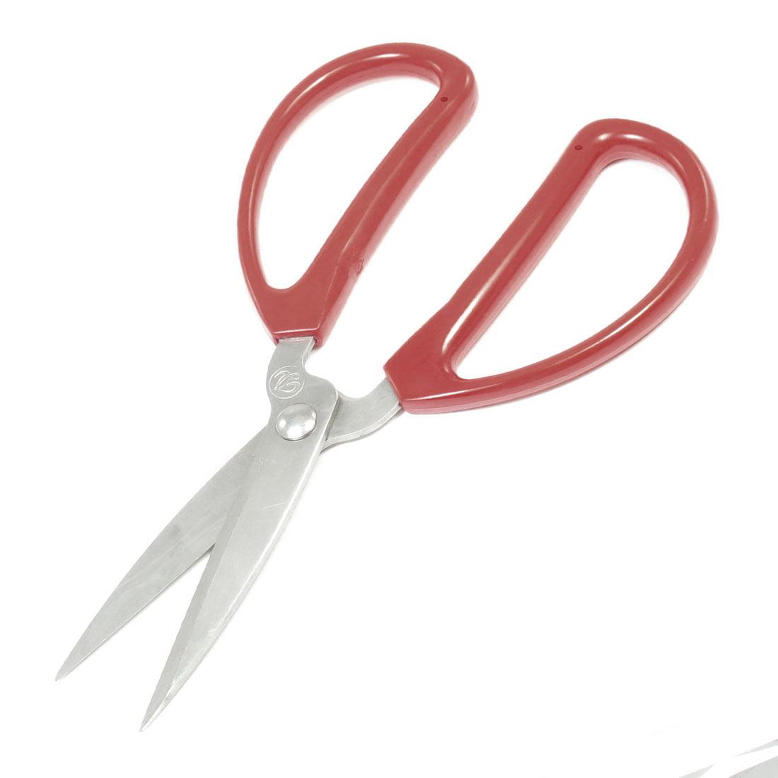 Unique Bargains Red Plastic Handle Stainless Steel Blade Workshop Scissors by Unique-Bargains