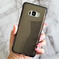 Samsung Galaxy S8 Plus Transparent Cleat Outerspace Planet Floating Stars Moon Moving Liquid Waterfall Bling Glitter Case Cover