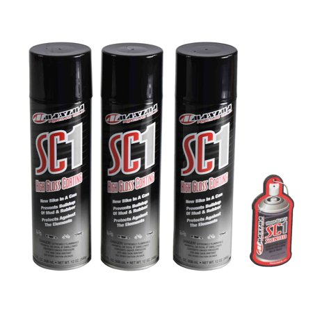 Maxima Racing Oils SC1 High Gloss Silicone Clear Coat Spray Cleaner 17 2  Fl  Oz (3 Pack) w/ Air Freshener