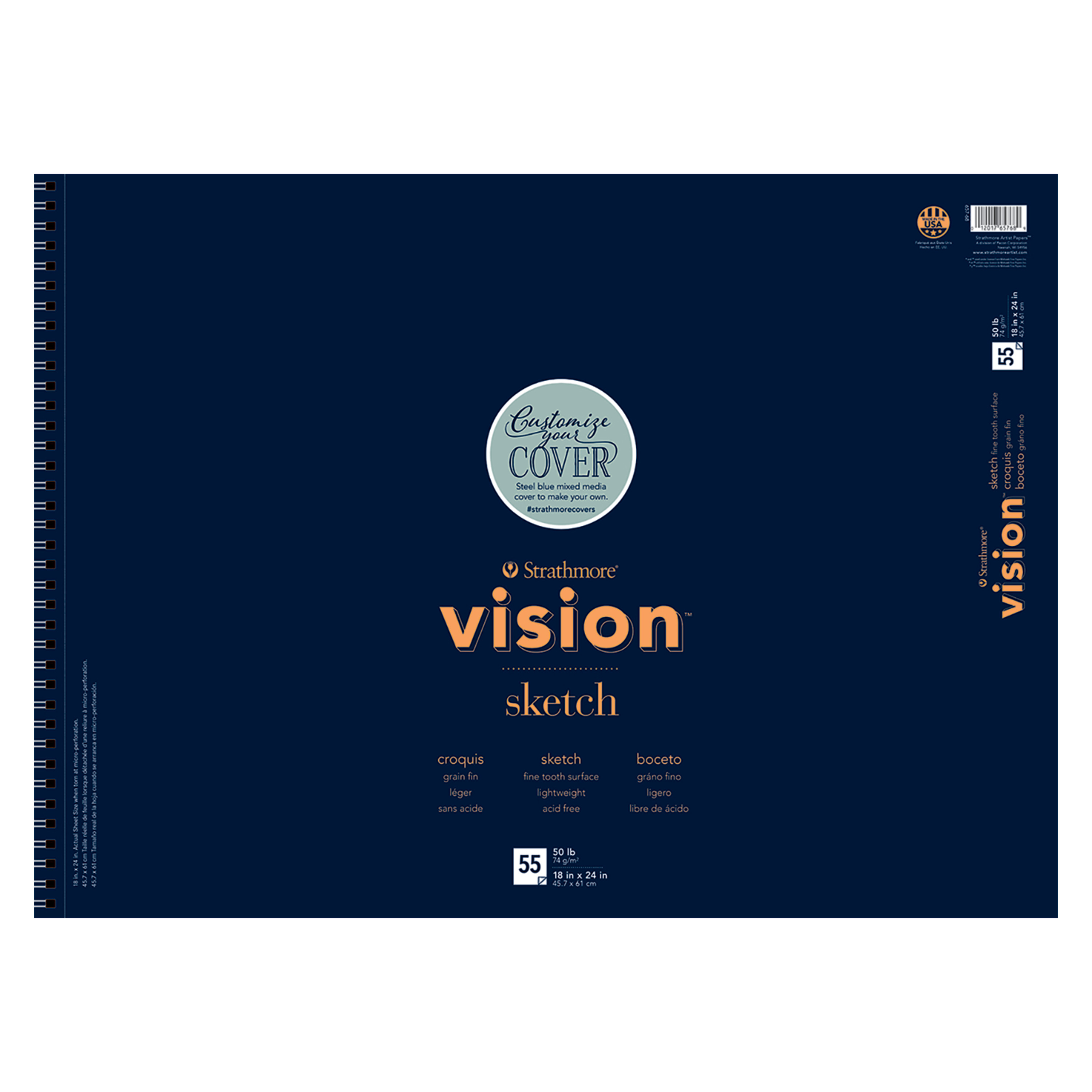 """Strathmore Vision Sketch Paper Pad, 18"""" x 24"""", 56 Sheets"""