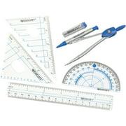 WESTCOTT 6 Piece Geometry Tools Set with Plastic Pouch