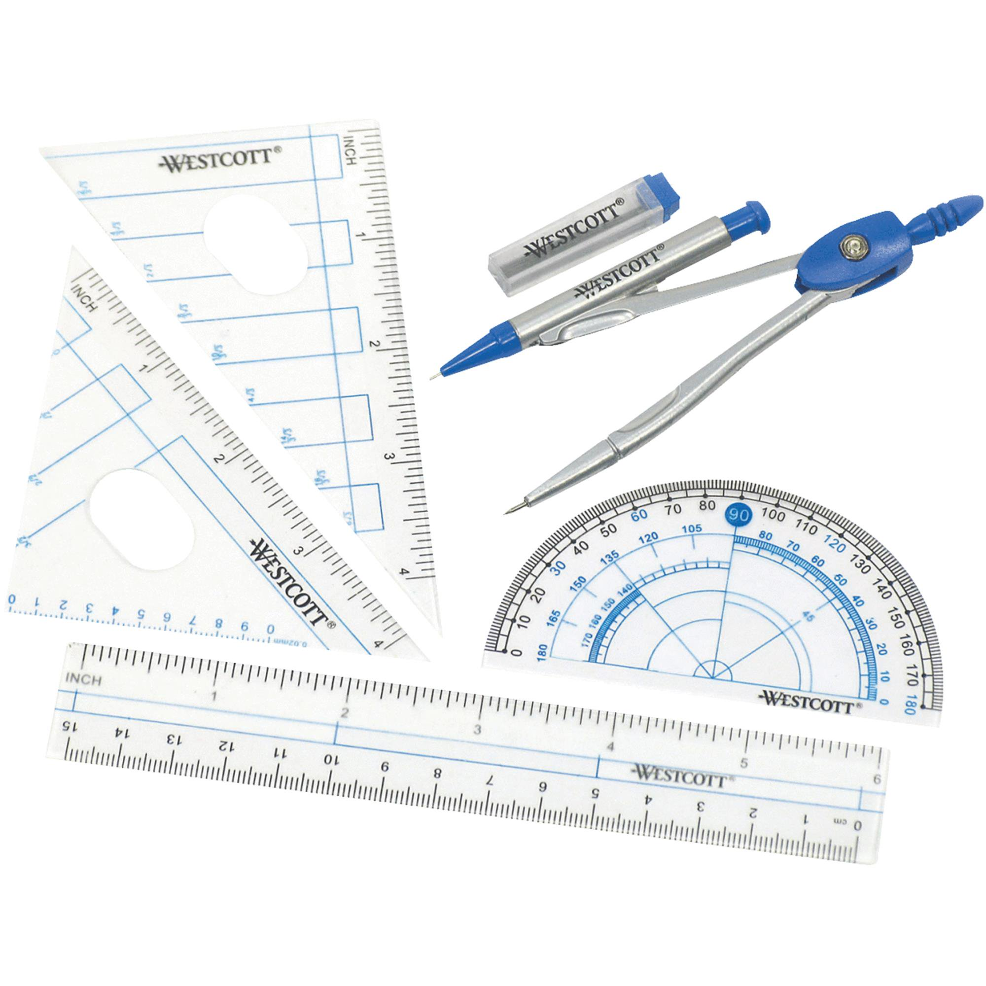 Westcott 6 Piece Geometry Tools Set