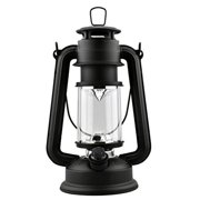 SE FL805-15B 15-LED Hurricane Lantern with Dimmer Switch, Matte Black