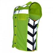 Men's Meshed Up Safety Vest HiViz Reflective Green - 3X-Large MUMG