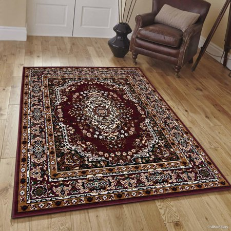Allstar Burgundy Woven High Quality Rug. Traditional. Persian. Flower. Western. Design Area Rug (5