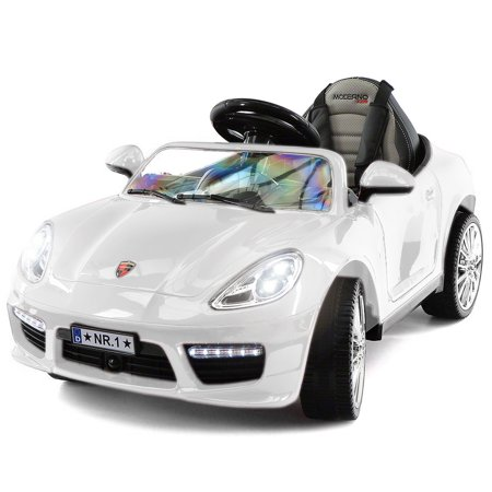 2019 Kids Sports 12V Ride On Car Battery Powered W/ Dining Table, Leather Seat, LED