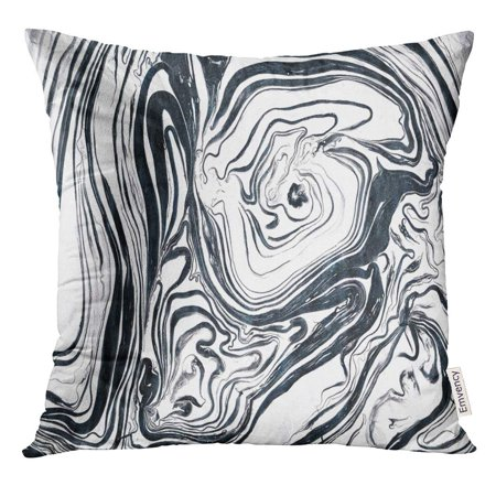 Silver Body Black Ink (ARHOME Watercolor White Black and Silver Marble Ink Abstract Painting Beautiful Gray Effect Pillow Case 20x20 Inches Pillowcase )