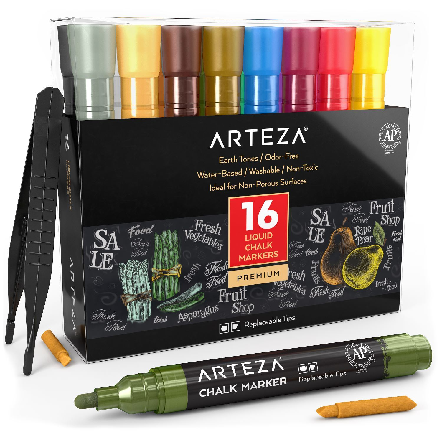 Alcohol Based Sketch Markers with Dual Tips ARTEZA EverBlend Art Markers Aegean Blue A264 Sketching and Drawing Set of 4 Coloring Fine and Broad Chisel for Painting