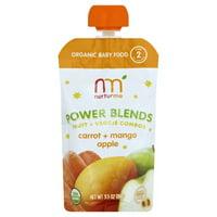 NurturMe Organic Power Blends Stage 2: Carrot + Mango + Apple (3.5 oz)