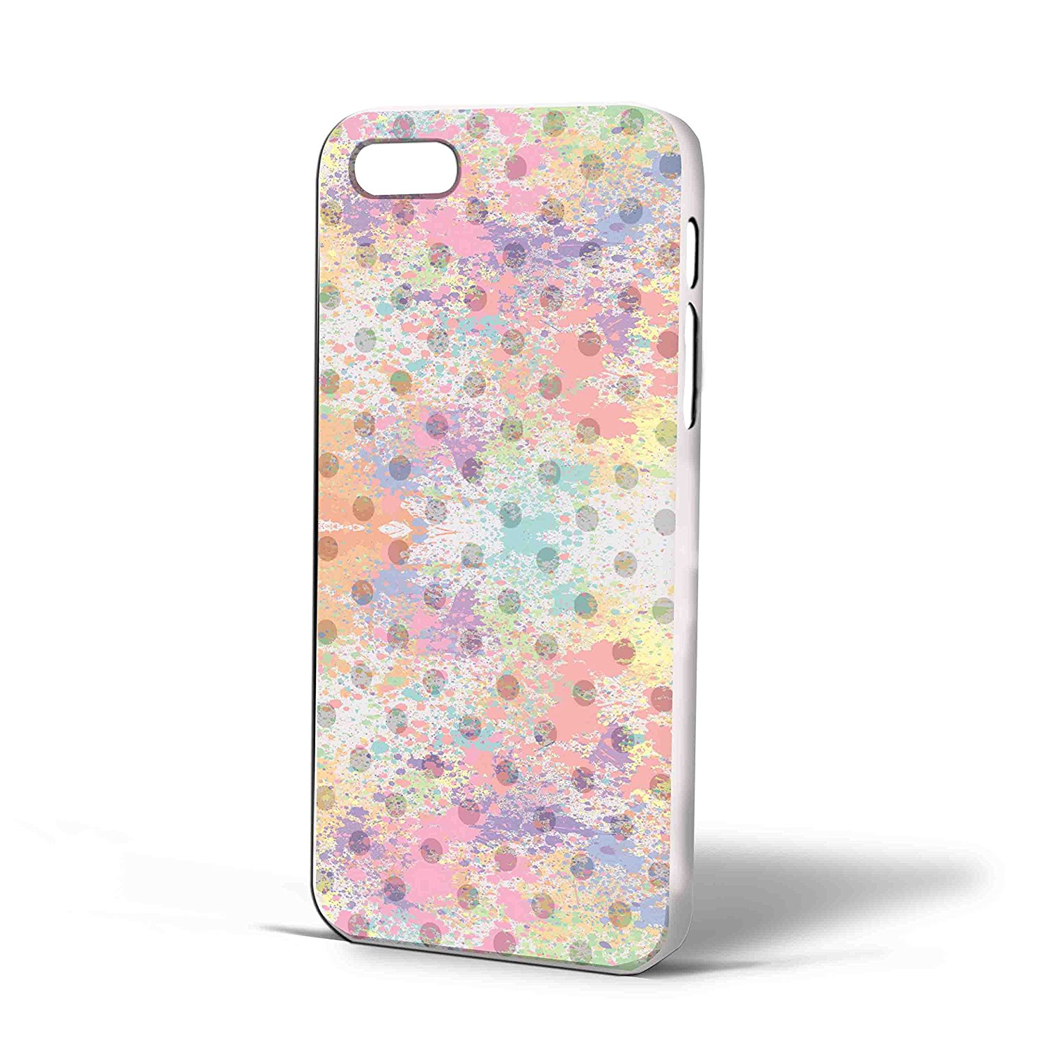 Ganma Polkadot - Pastel Case For iPhone Case (Case For iPhone 5C White)