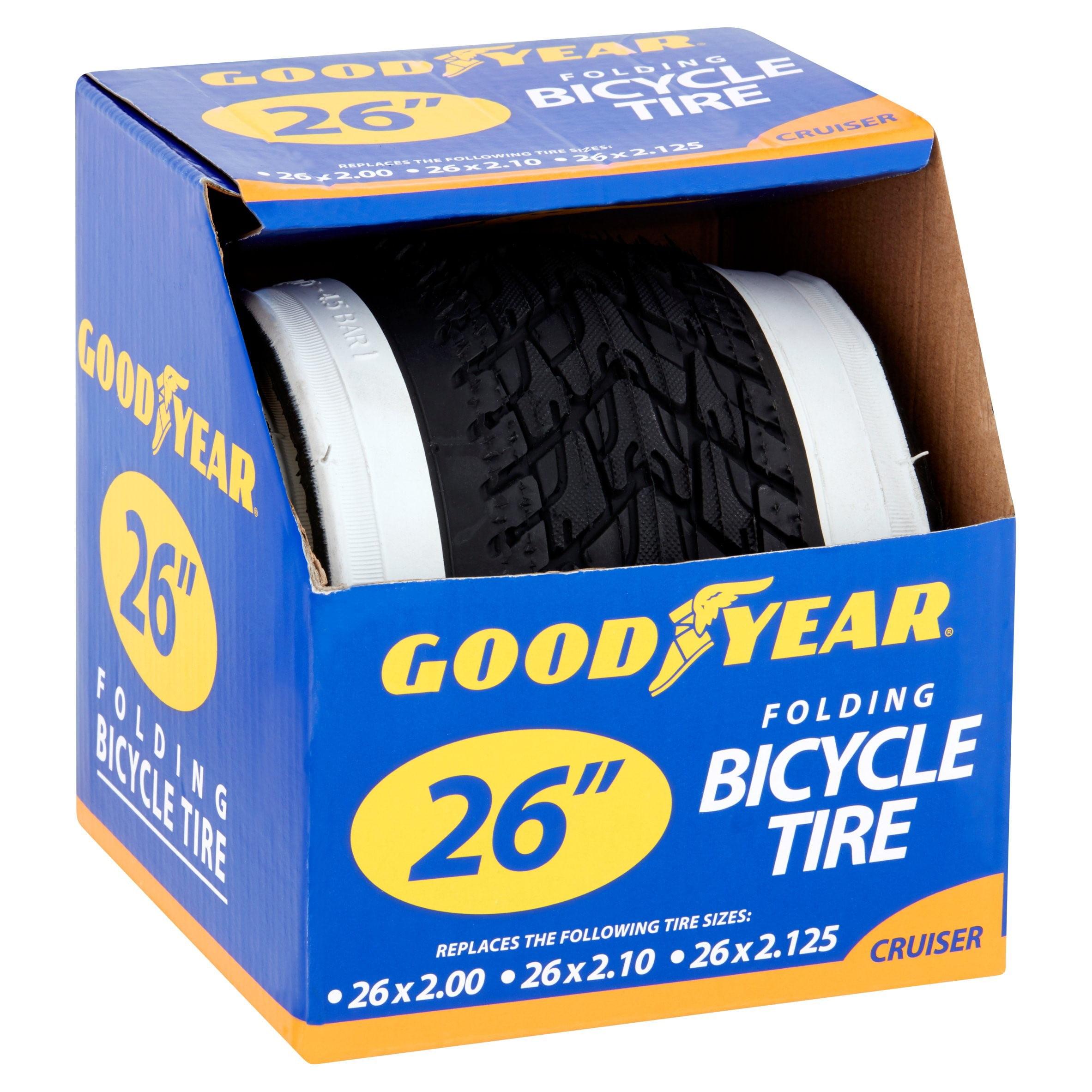 """24x2.125/"""" mur blanc GOODYEAR pneu Beach cruiser vélo pneus 262850"""