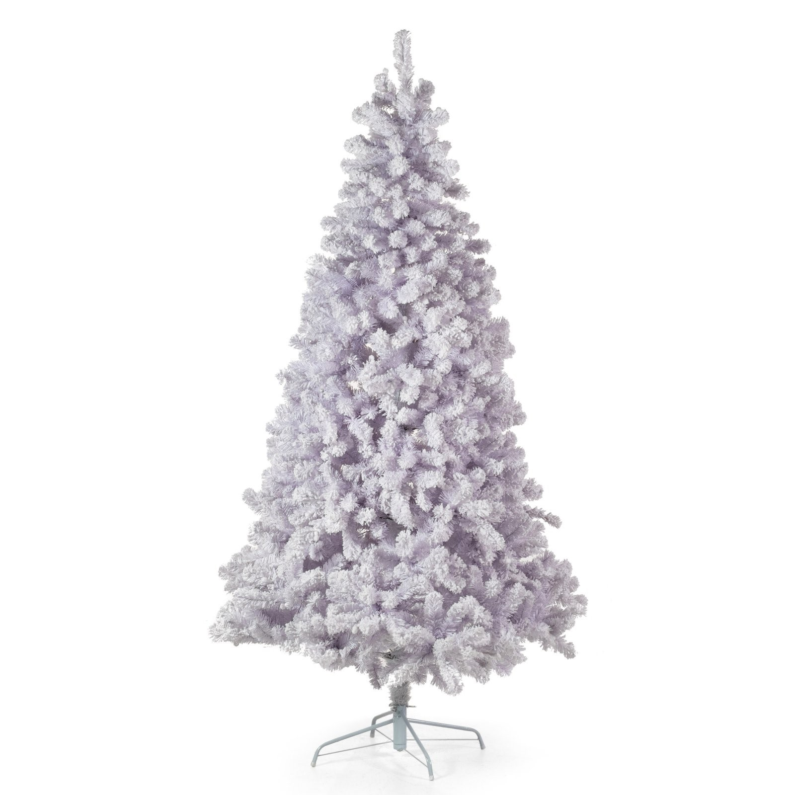 Belham Living 7.5ft Pre-Lit Artificial Christmas Tree with Clear Lights - White