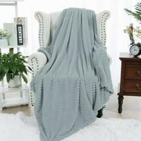 "PiccoCasa Flannel Fleece Duvet Cover Blanket Dark Blue Twin 59"" x 78"""