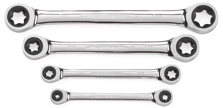 GearWrench 4-Piece E-Torx Wrench Set