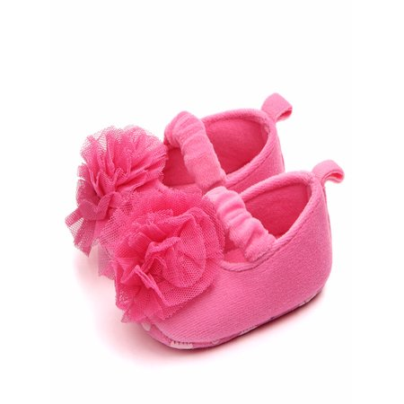 6e9dcb3eaae4 BOBORA - BOBORA Toddler Baby Girl Lace Flower Anti-slip Soft Bottom  Princess Shoes - Walmart.com
