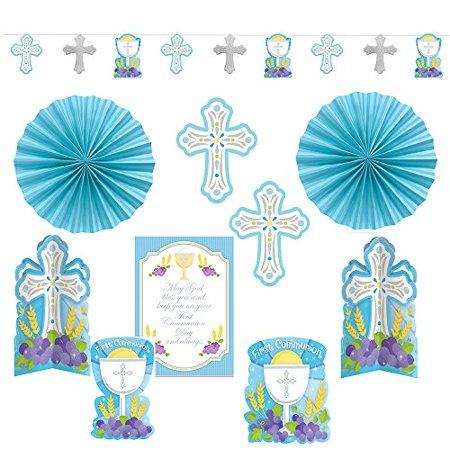 kit decorating first communion blue - Communion Kits