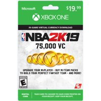 NBA 2K19 75,000 Virtual Currency Card