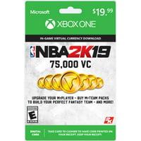 NBA 2K19 75,000 Virtual Currency Card