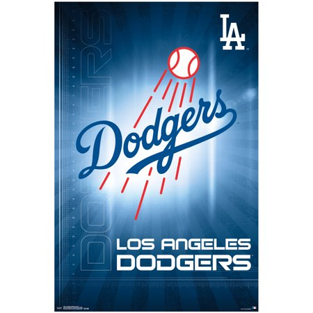 Los Angeles Dodgers Team Logo MLB Baseball Sports Poster - Battle Los Angeles Poster