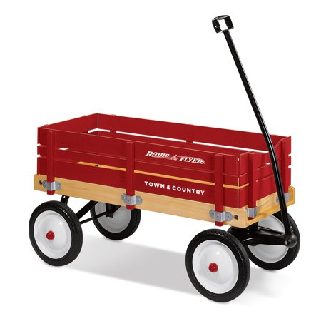 Radio Flyer, Town & Country Wagon, Wood Body, Red (Radio Flyer Town And Country Wagon Decals)