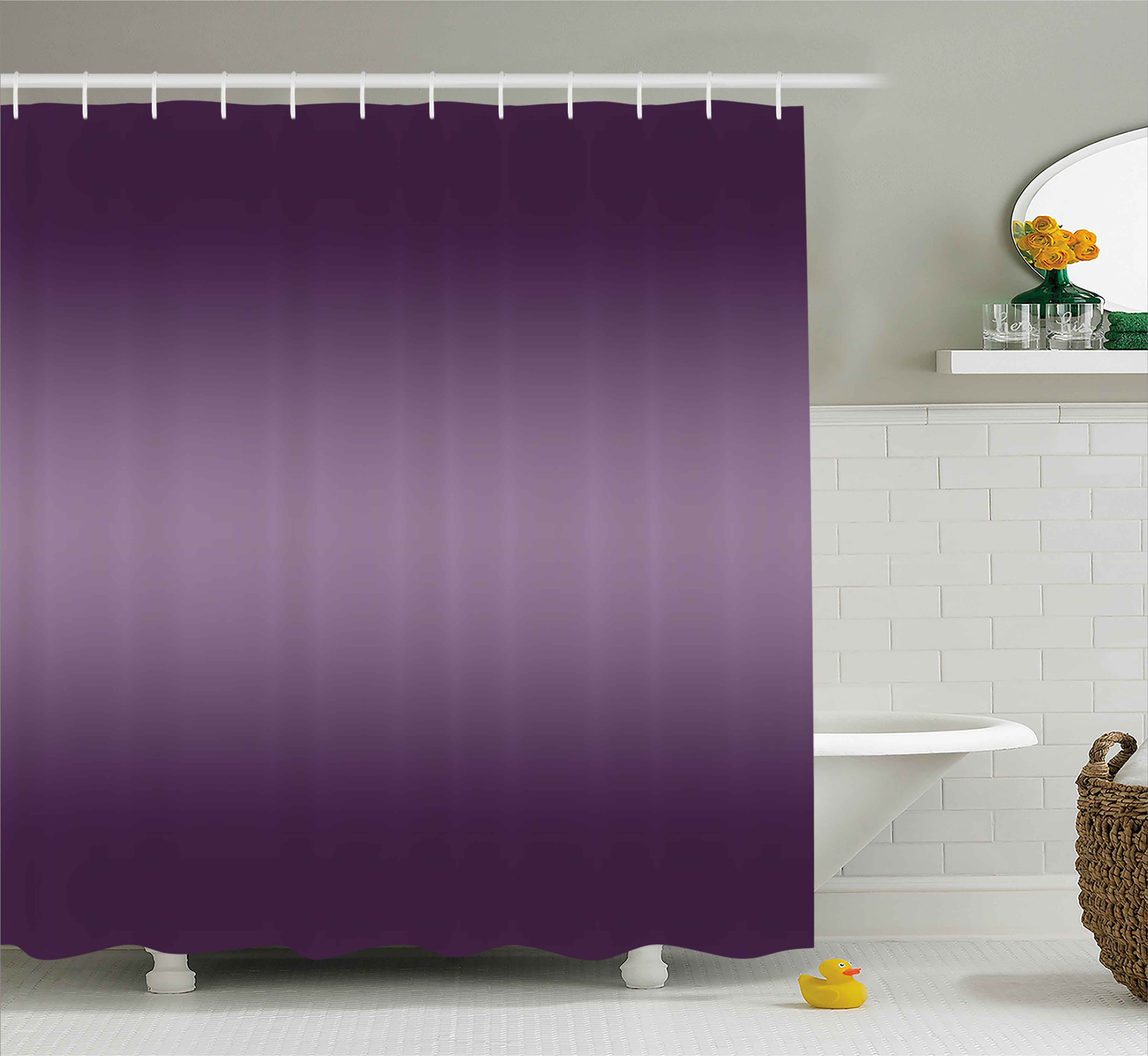 Amazing Ombre Shower Curtain, Hollywood Theater Inspired Purple Colored Modern  Design Room Decorations, Fabric Bathroom